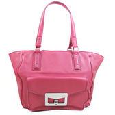 茱麗葉精品 全新名牌 Marc Jacobs 時尚質感全革壓紋肩背托特包.玫瑰紅