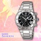 CASIO卡西歐 手錶專賣店  SHEEN SHN-5502D-1A 不鏽鋼錶帶 女錶 黑面 優雅奢華 水晶裝飾