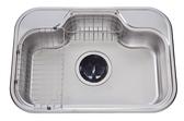 【麗室衛浴】吧檯廚房專用不銹鋼 防蟑 防臭 水槽 DS 740 尺寸:740*515*195mm