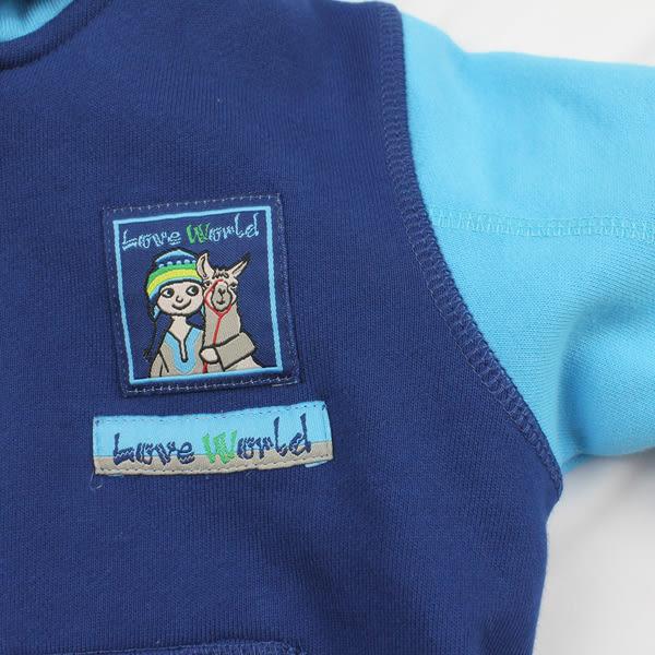 【愛的世界】純棉拉鍊連帽外套/6~8歲-台灣製- ★秋冬外套