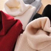 高領毛衣羊絨衫女短款緊身修身針織