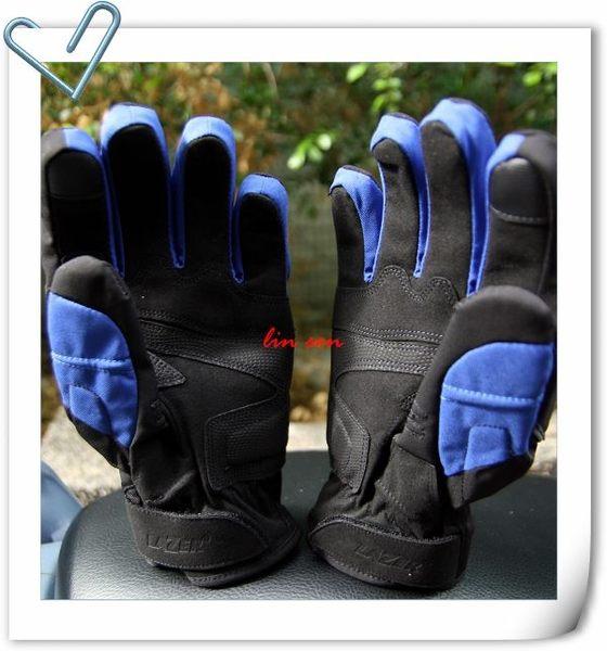 LAZER手套,防摔/防水/防寒手套,HA-3,黑/藍