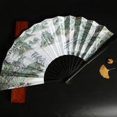 扇子折扇古風學生中國風個性古典裝飾男士隨身復古清明上河圖10寸 英雄聯盟