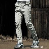 速幹褲男女夏季超輕薄款快干透氣修身顯瘦彈力戶外登山長褲 大碼 露露日記