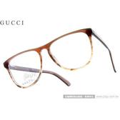 GUCCI 光學眼鏡 GG3518 WW0 (漸層深棕) 復古雷朋款細板膠框 平光鏡框 # 金橘眼鏡