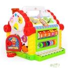 玩具 趣味小屋嬰幼兒童音樂多功能遊戲桌益...