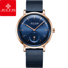 JULIUS 聚利時 青春進行曲不鏽鋼米蘭錶帶腕錶-深邃藍/34mm 【JA-1065D】