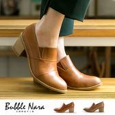 高跟鞋 拋物線無印踝靴。Bubble Nara 波波娜拉。完美修飾弧線,靜音粗跟鞋NA342-14