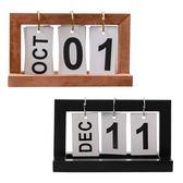 北歐ins簡約木質翻頁日曆桌面裝飾 拍照道具擺設【Z90206】