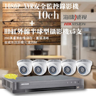 台南監視器/200萬1080P-TVI/套裝組合【8路監視器+200萬半球型攝影機*5支】DIY組合優惠價