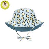 德國Lassig-嬰幼兒抗UV海灘遮陽帽-薄荷企鵝