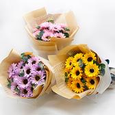 幸福婚禮小物「向日葵香皂花束」紀念禮物/祝賀花束/向日葵/香皂花/畢業禮物/畢業祝福