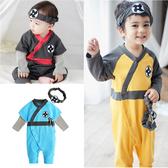 日本忍者造型連身衣+頭帶 萬聖節 造型服 變裝 cosplay92033