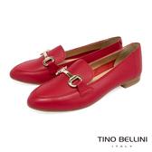Tino Bellini義大利進口經典馬銜扣樂福鞋_紅 TF9011 歐洲進口款