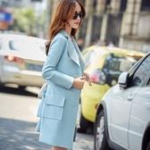 翻領大衣-時尚氣質百搭單排扣女風衣外套4色73iz63【時尚巴黎】