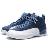 NIKE 籃球鞋 AIR JORDAN 12 INDIGO STONE BLUE 男 (布魯克林) 130690-404