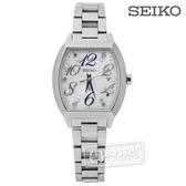 SEIKO 精工 / 1B22-0BC0S.SSVW081J / LUKIA 冬季耶誕施華洛世奇太陽能電波不鏽鋼手錶 銀色 27mm