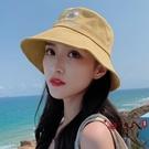 漁夫帽 ins小雛菊漁夫帽子女甜美可愛韓版遮陽學生百搭防曬太陽網紅盆帽 VK2223