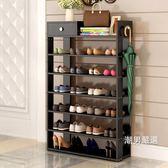 鞋架鞋架簡易多層創意置物架防塵收納架大容量經濟型家用鞋櫃鞋架組裝xw