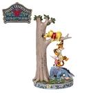 【正版授權】Enesco 小熊維尼與好友們爬樹 塑像 公仔 精品雕塑 跳跳虎 小豬 屹耳 維尼 Winnie - 282463