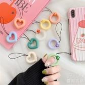 小花朵指環圈掛繩掛飾繩子防摔手機通用可愛日韓國女個性創意硅膠 優尚良品