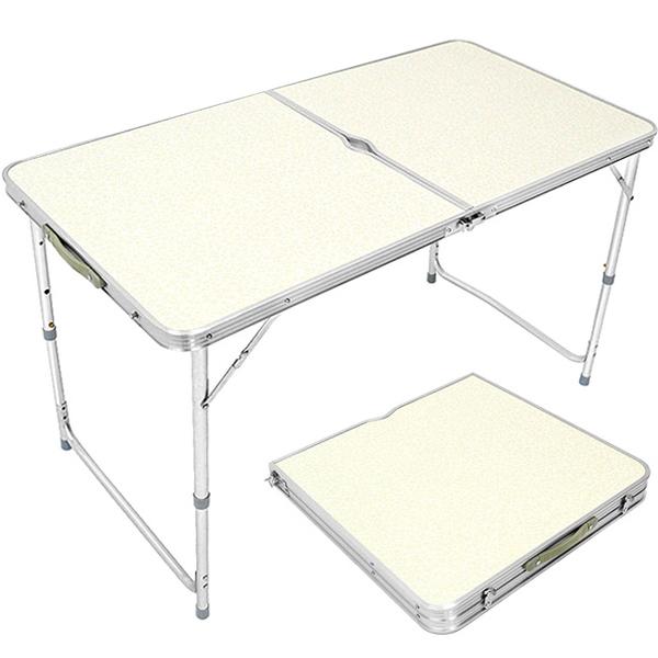 120X60輕便鋁合金手提折疊桌.傘孔摺疊桌折合桌摺合桌.和室桌簡易桌辦公桌戶外桌野餐桌露營桌