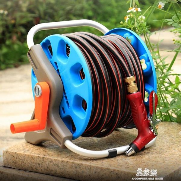 高壓金屬水槍洗車水搶家用沖刷車澆花沖地工具水管軟管收納架套裝YYS   易家樂