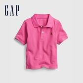 Gap男幼童 活力小熊刺繡運動POLO衫 664139-玫粉色