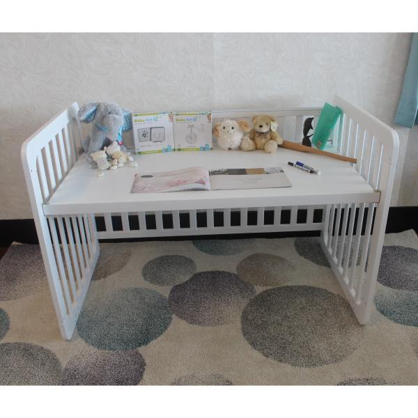 【預計3月初到貨】喬依思 La joie Rockland 劍橋書桌床(附床墊+變書桌耳朵)-(白色)