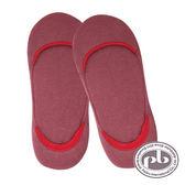 貝柔 精梳棉萊卡輕盈無束縛素色超低口氣墊止滑襪套22-26cm(紫紅)