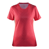 【速捷戶外】瑞典CRAFT 1903942 女圓領短袖排汗衣(桃紅彩印), 排汗衣 圓領T恤