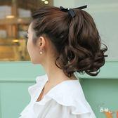 八八折促銷-黛美絲S捲短馬尾 綁帶式逼真女士假髮馬尾短版大波浪馬尾假髮片
