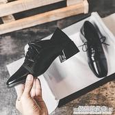 小皮鞋女英倫秋季新款黑色百搭中跟粗跟懶人鞋學院風復古單鞋 雙十二全館免運