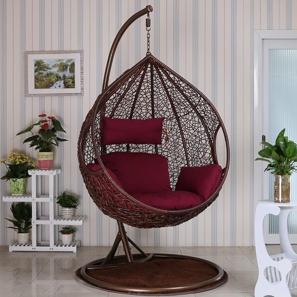 吊籃藤椅客廳吊床室內家用雙人搖椅陽台成人鳥巢搖籃椅秋千吊椅jj
