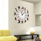 創意壁貼--籃球剪影時鐘貼 SA1002W-1036【AF01013-1036】99愛買小舖