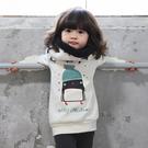 小企鵝棉內刷毛加厚長袖上衣  長袖上衣  男童 女童 橘魔法 現貨 童裝