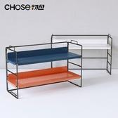 桌面書架簡易書架置物架辦公室桌面小架子臥室家用桌上多層鐵藝書桌收納架 JUST M