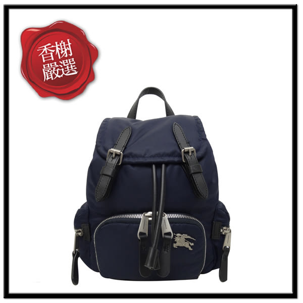 BURBERRYTHERUCKSACK尼龍小型後背包/藍80067191全新商品
