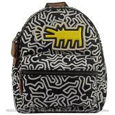 茱麗葉精品 全新精品  COACH 11774 Keith Haring聯名限量款黃狗人形塗鴉小後背包.黑白
