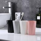 漱口杯 杯子 隨手杯 塑膠杯 刷牙杯 小麥秸稈 環保杯 筆筒 歐美 幾何漱口杯(小)【Q061】生活家精品