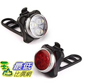 [美國直購] LED Bicycle Light- Ascher Super Bright Rechargeable Front and Rear Bike Light Set, LED自行車燈套件