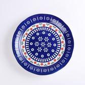 日本花之慶典深盤22cm 藍