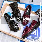 牛津鞋 新款英倫風女鞋ins小皮鞋黑色韓版中跟百搭厚底鬆糕樂福鞋夏 唯伊時尚