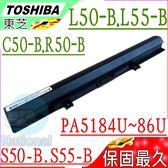 Toshiba 電池-東芝 L50DT-B,L50T-B,L55-B,L55D-B,L55Dt-B,L55t-B, Pro C50-B,PA5186U-1BRS,PA5185U-1BRS