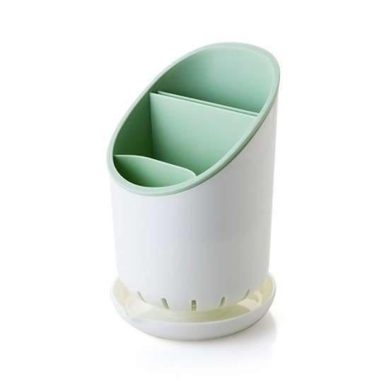 可拆卸瀝水收納桶 餐具 廚房 筷子 叉子 湯匙 勺子 瀝乾 乾燥 通風 台面【S22】♚MY COLOR♚