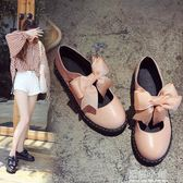 lolita小皮鞋夏軟妹女鞋厚底日系瑪麗珍女單鞋可愛圓頭學生娃娃鞋 藍嵐