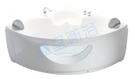 【麗室衛浴】BATHTUB WORLD  角落造型缸含前牆  LS5330-1  1300*1300*600mm