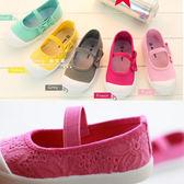 兒童小白鞋帆布鞋女童布鞋新款童鞋寶寶鞋子幼兒園學生女春秋 雲雨尚品