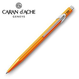 CARAN d'ACHE 瑞士卡達 849 Fluo 原子筆. 螢光桔 / 支