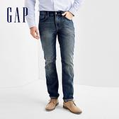 Gap男裝 基本款純棉中腰男士牛仔褲 直筒休閒長褲男 349790-復古